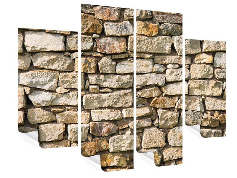 Poster 4-teilig Natursteine