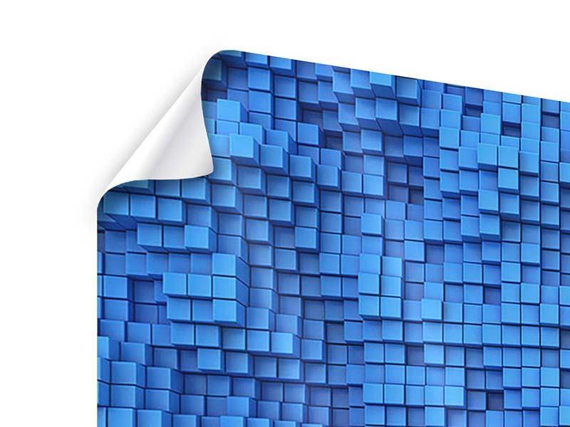 Poster 4-teilig 3D-Mosaik