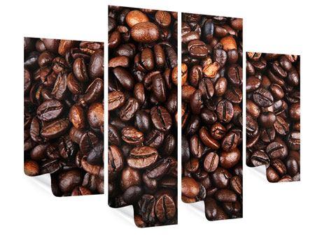 Poster 4-teilig Kaffeebohnen in XXL
