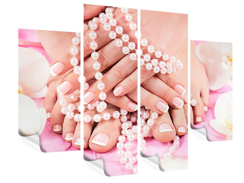 Poster 4-teilig Hände und Füsse