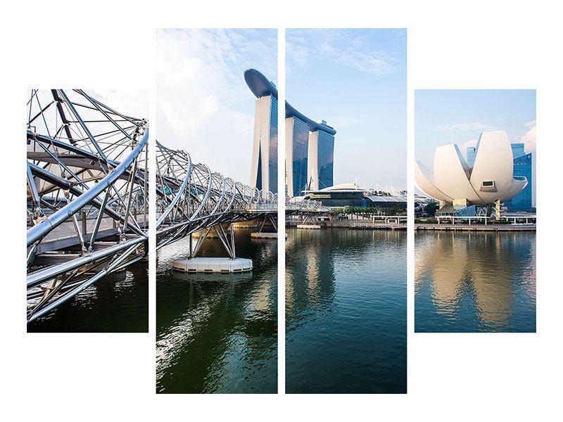 Poster 4-teilig Singapur