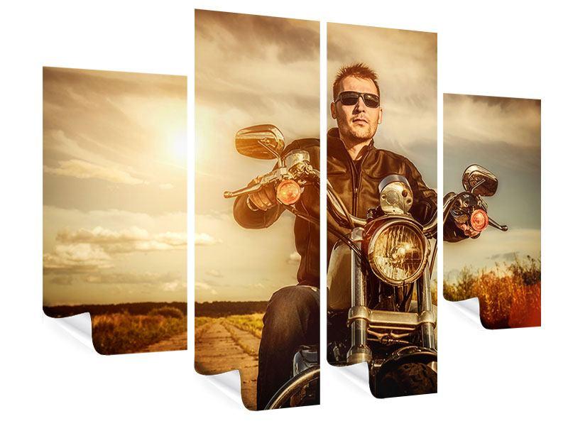 Poster 4-teilig Der Coole Biker