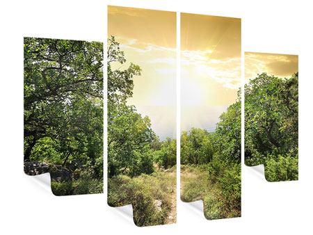 Poster 4-teilig Am Ende des Waldes