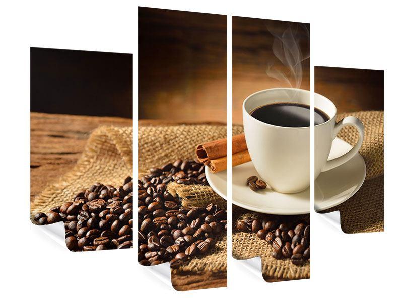 Poster 4-teilig Kaffeepause