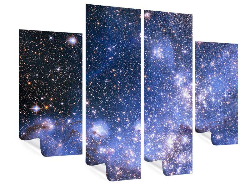Poster 4-teilig Sternenhimmel