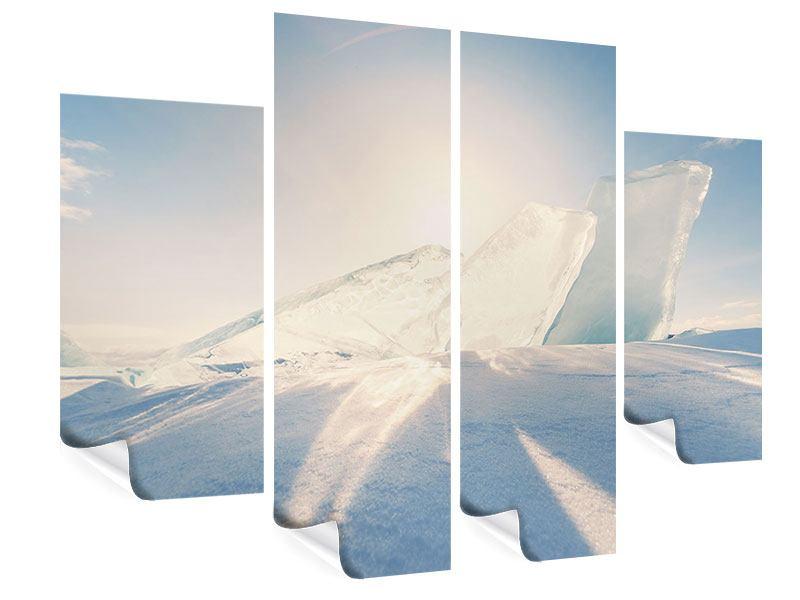 Poster 4-teilig Eislandschaft