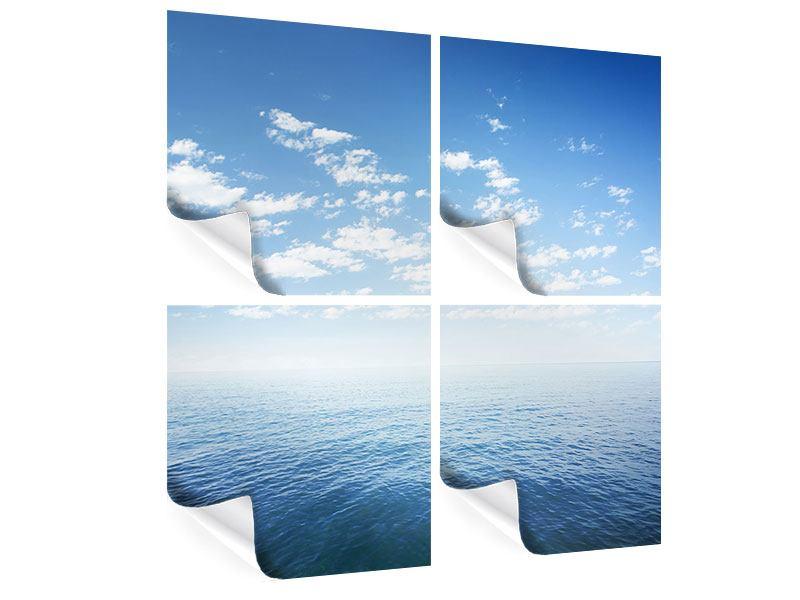 Poster 4-teilig Unendlichkeit Meer