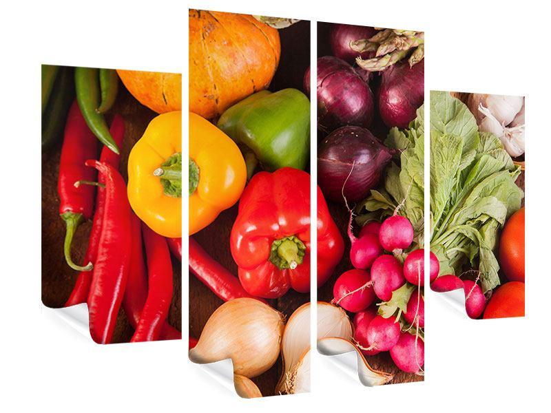 Poster 4-teilig Gemüsefrische