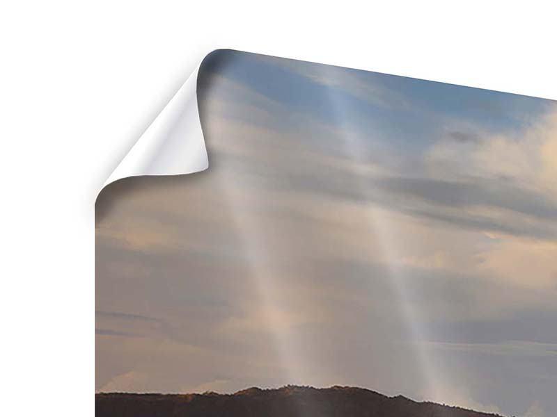 Poster 4-teilig Der Bromo Vulkan
