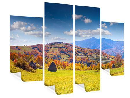 Poster 4-teilig Herbstliche Berglandschaft