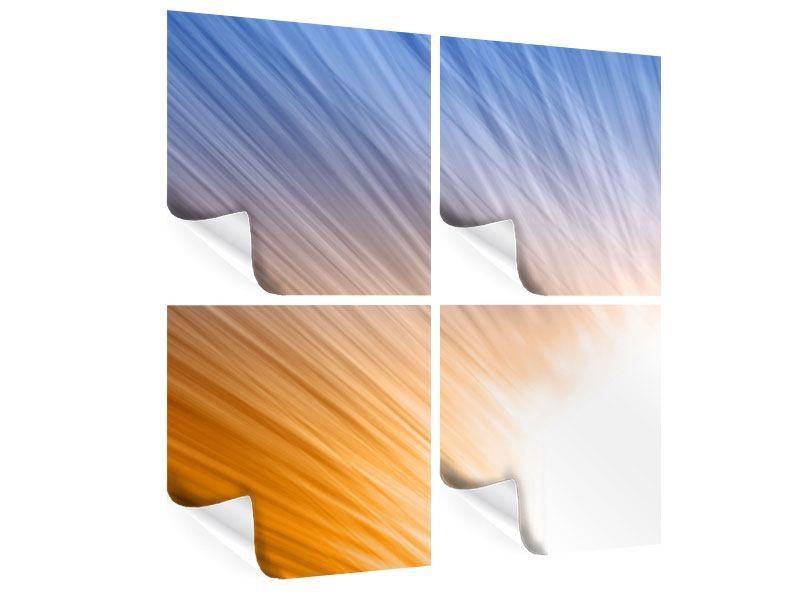 Poster 4-teilig Abstraktes Lichterspiel