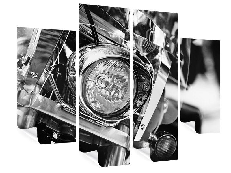 Poster 4-teilig Motorrad Close Up