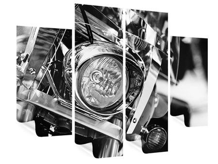 Poster 4-teilig Motorrad Close Up