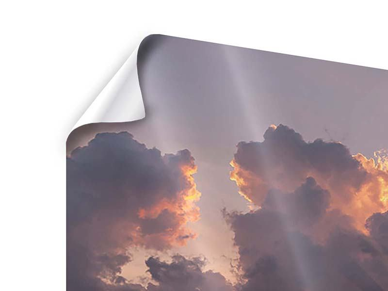 Poster 4-teilig Packender Sonnenuntergang