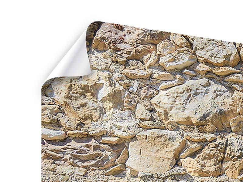 Poster 4-teilig Sandsteinmauer