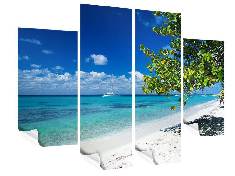 Poster 4-teilig Happy Beach