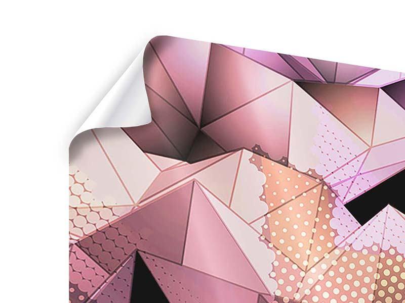 Poster 4-teilig 3D-Kristallstruktur