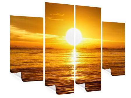 Poster 4-teilig Traumhafter Sonnenuntergang