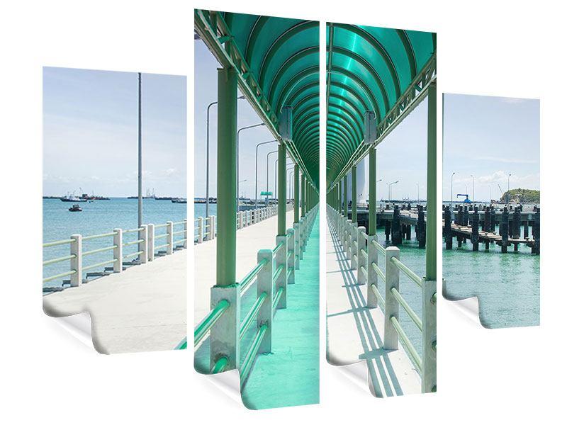 Poster 4-teilig Die Brücke am Meer
