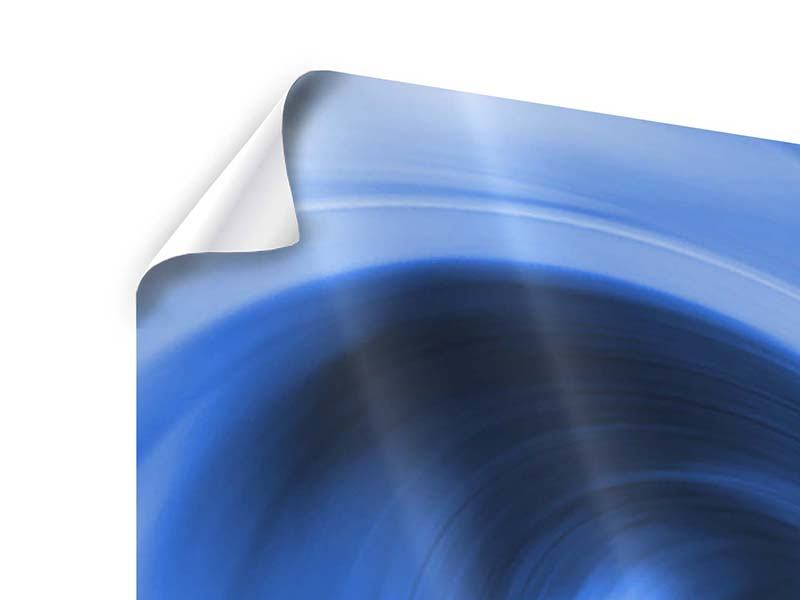 Poster 4-teilig Abstrakte blaue Welle