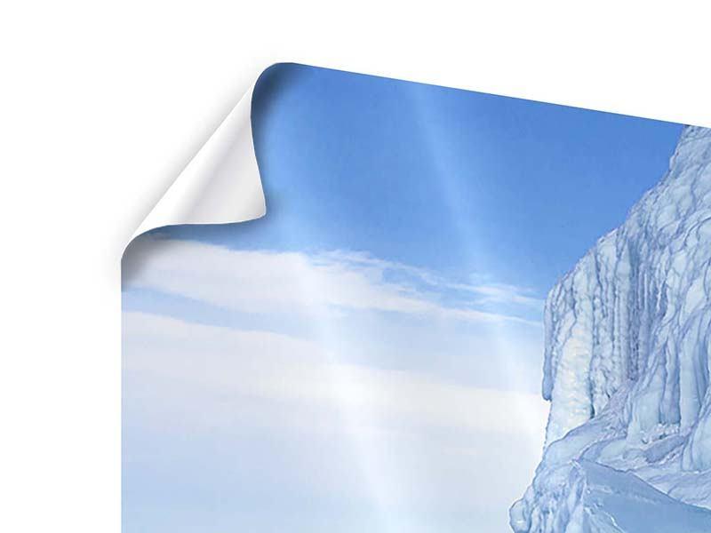 Poster 4-teilig Eislandschaft Baikalsee