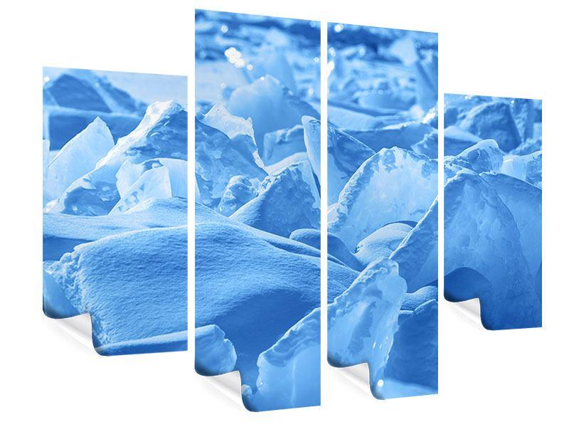 Poster 4-teilig Eis des Baikalsees