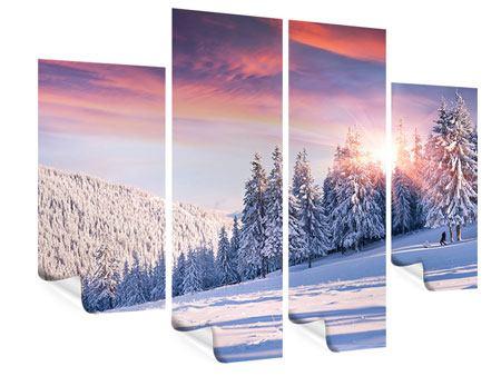 Poster 4-teilig Winterlandschaft