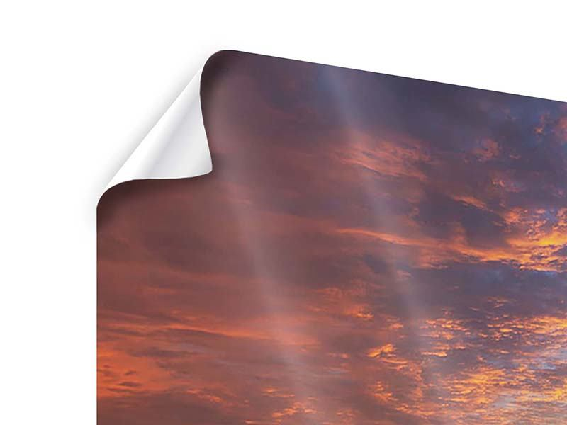 Poster 4-teilig Sonnenuntergang