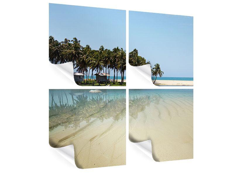 Poster 4-teilig Das Meer und die Insel
