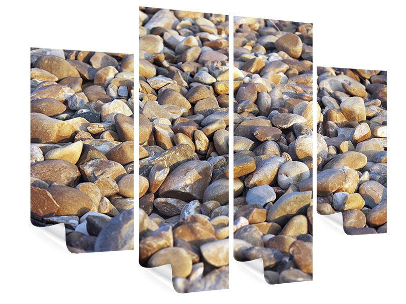 Poster 4-teilig Strandsteine