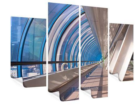 Poster 4-teilig Hypermoderne Brücke