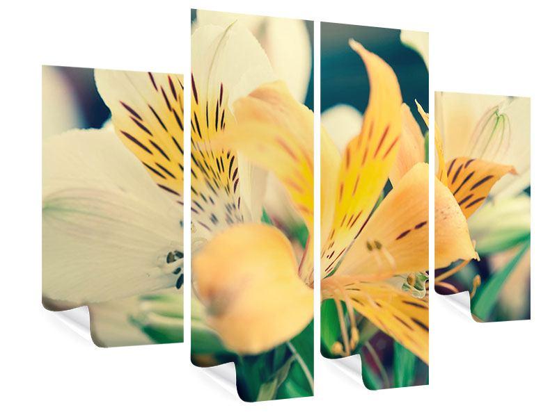Poster 4-teilig Tigerlilien