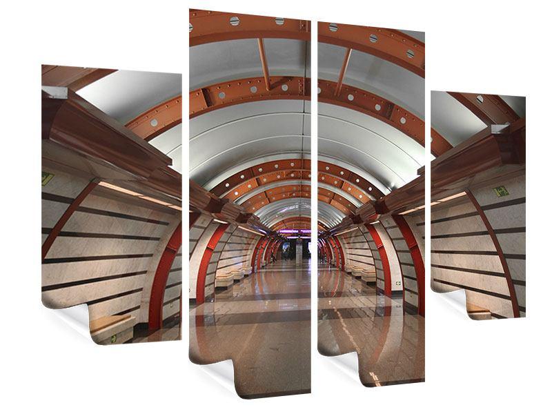 Poster 4-teilig U-Bahn Station