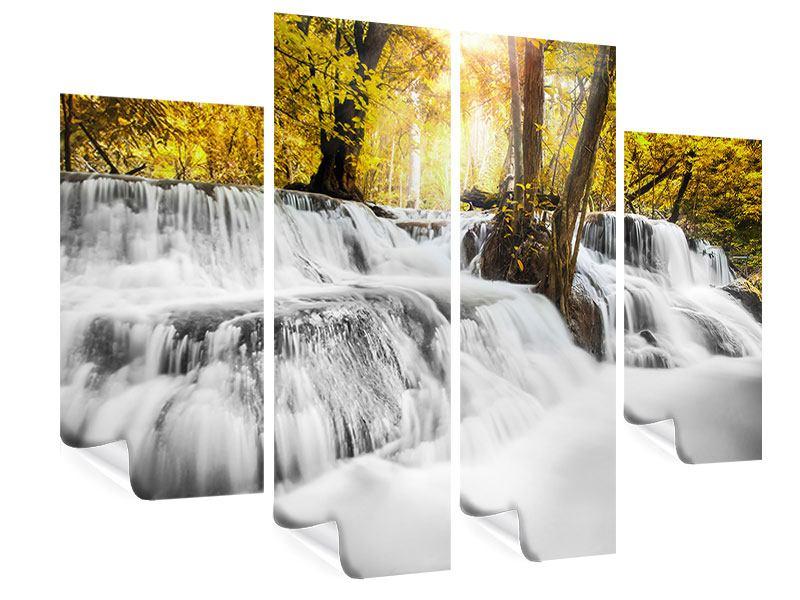 Poster 4-teilig Wasser in Aktion