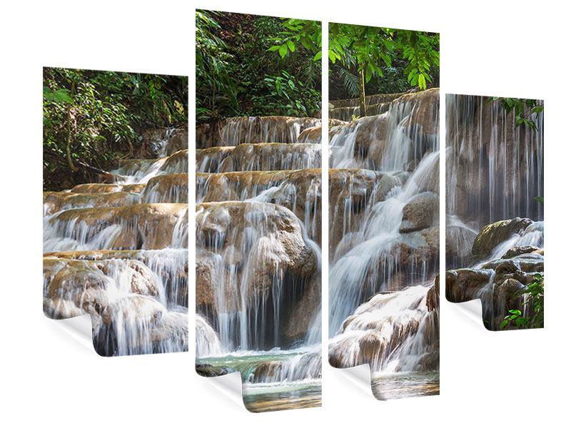 Poster 4-teilig Mexikanischer Wasserfall