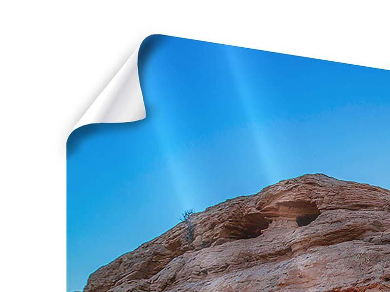 Poster 4-teilig Sonnenuntergang am Mesa Arch