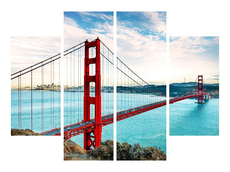 Poster 4-teilig Golden Gate Bridge