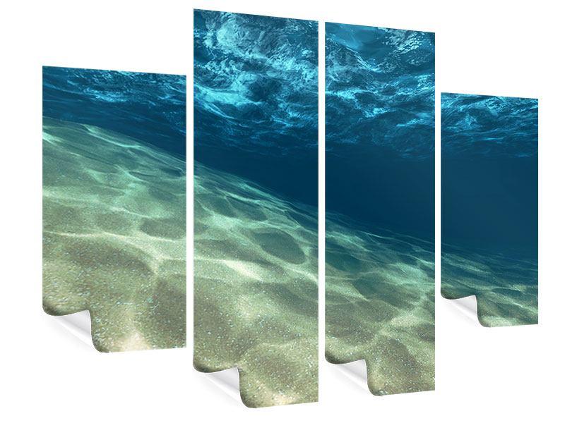 Poster 4-teilig Unter dem Wasser
