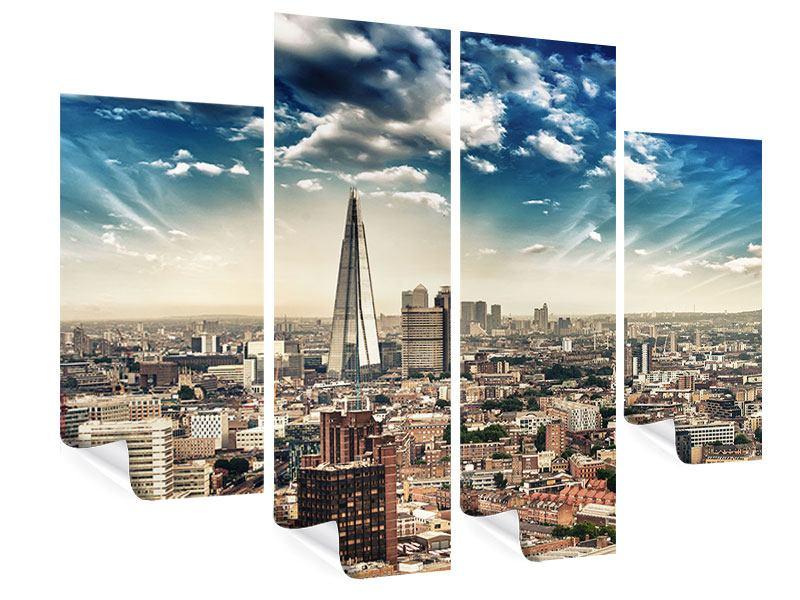 Poster 4-teilig Skyline Über den Dächern von London