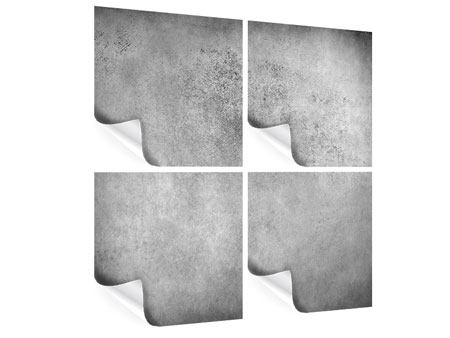 Poster 4-teilig Graue Wandschattierungen