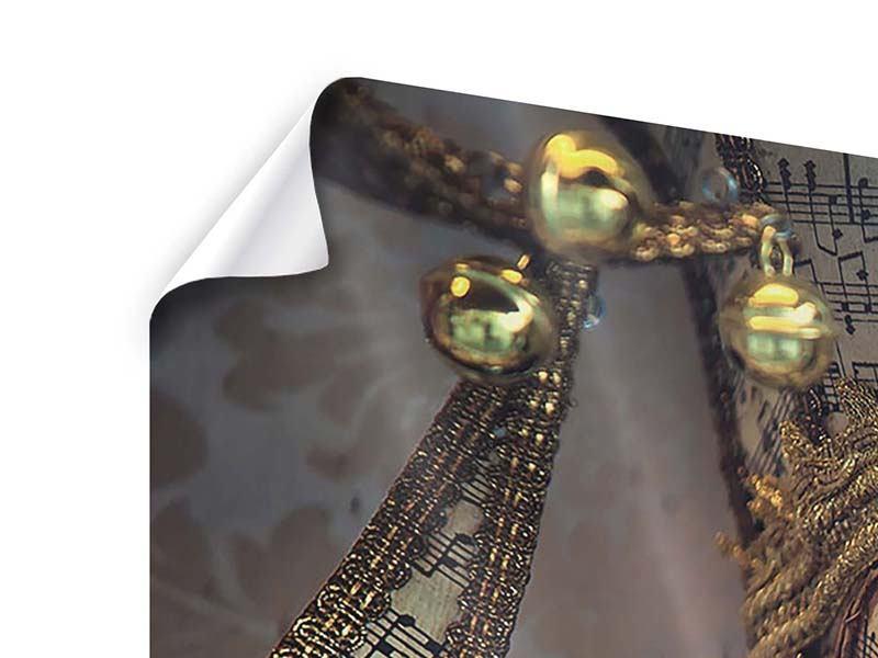 Poster 4-teilig Venezianische Maske