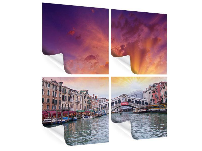 Poster 4-teilig Venedig