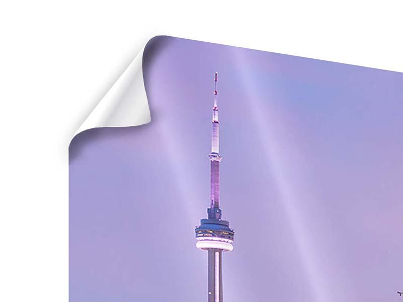 Poster 4-teilig Skyline Toronto bei Nacht