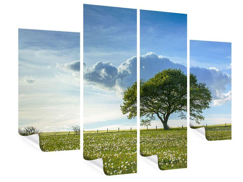 Poster 4-teilig Frühlingsbaum