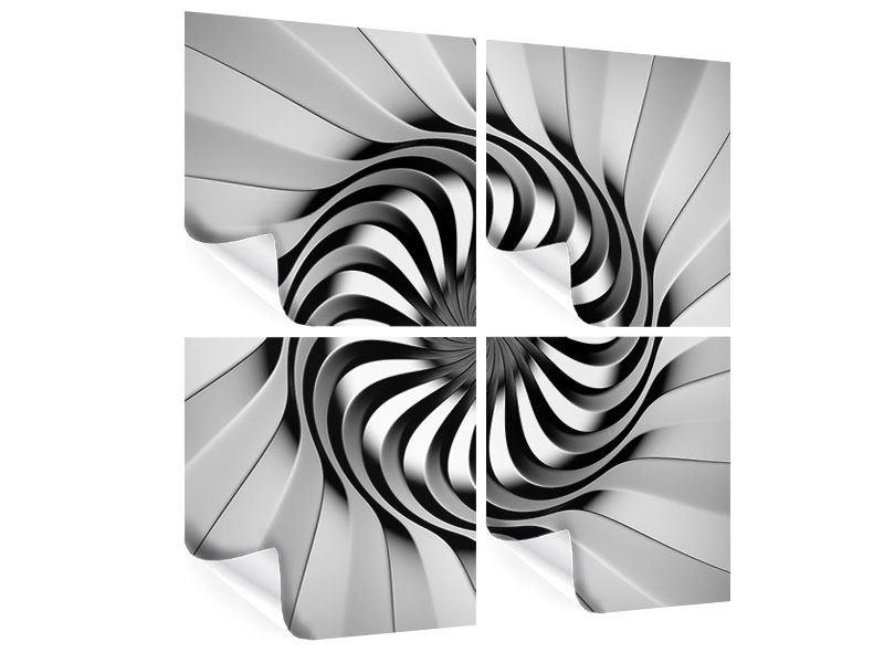 Poster 4-teilig Abstrakte Spirale