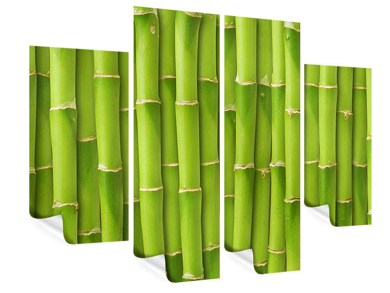 Poster 4-teilig Bambuswand