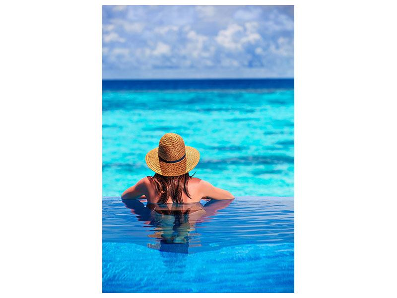 Poster Der Pool ins Meer