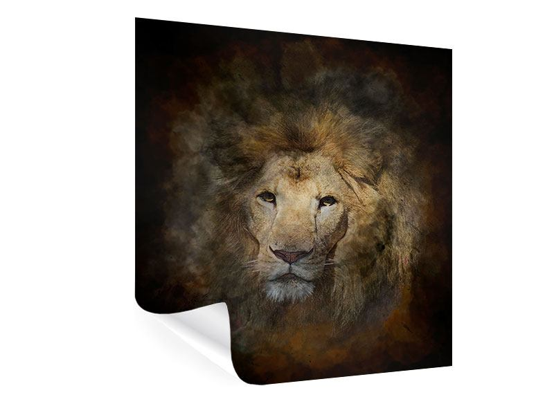 Poster Löwenportrait