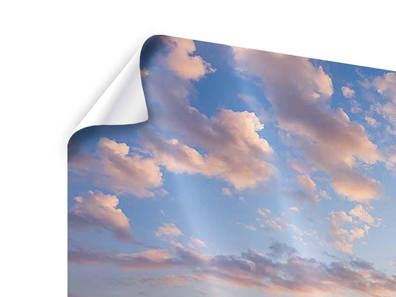 Poster Romantischer Sonnenuntergang am Meer