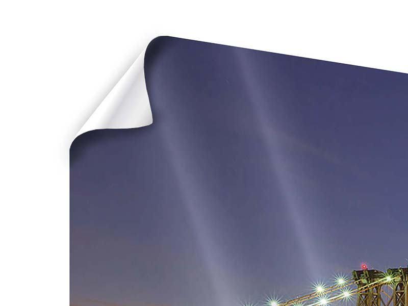 Poster Skyline NY Williamsburg Bridge